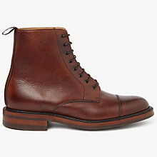 Buy John Lewis Made in England Cliveden Toe Cap Ankle Boot, Tan Online at johnlewis.com