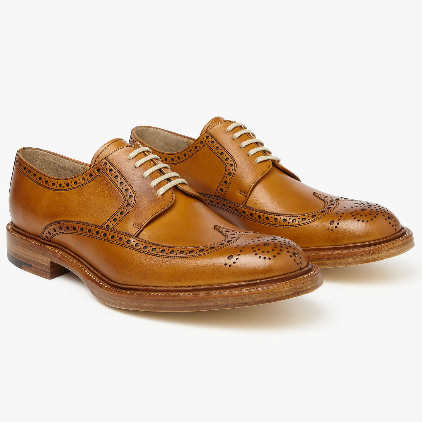 BuyJohn Lewis Made in England Bradenham Derby Brogues, Tan, 7 Online at johnlewis.com