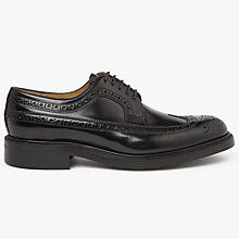 Buy John Lewis Made in England Ascott Derby Brogues, Black Online at johnlewis.com