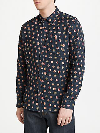 JOHN LEWIS & Co. Sakuru Vintage Print Shirt, Black/Multi