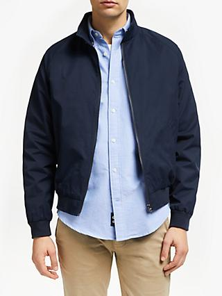 John Lewis & Partners Shower Resistant Harrington Jacket, Navy