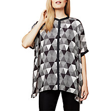 Buy East Pyramid Print Oversized Blouse, Black Online at johnlewis.com