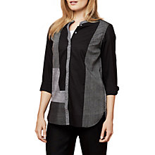 Buy East Mangalagiri Dropped Hem Shirt, Black/Grey Online at johnlewis.com