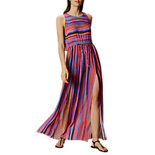 Buy Karen Millen Painterly Stripe Maxi Dress, Multi Online at johnlewis.com