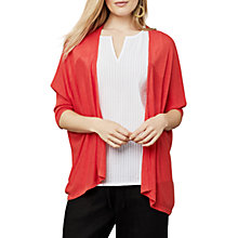 Buy East Draped Edge To Edge Cardigan, Ginger Online at johnlewis.com