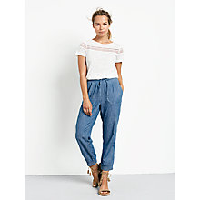 Buy hush Monaco Chambray Trousers, Denim Blue Online at johnlewis.com