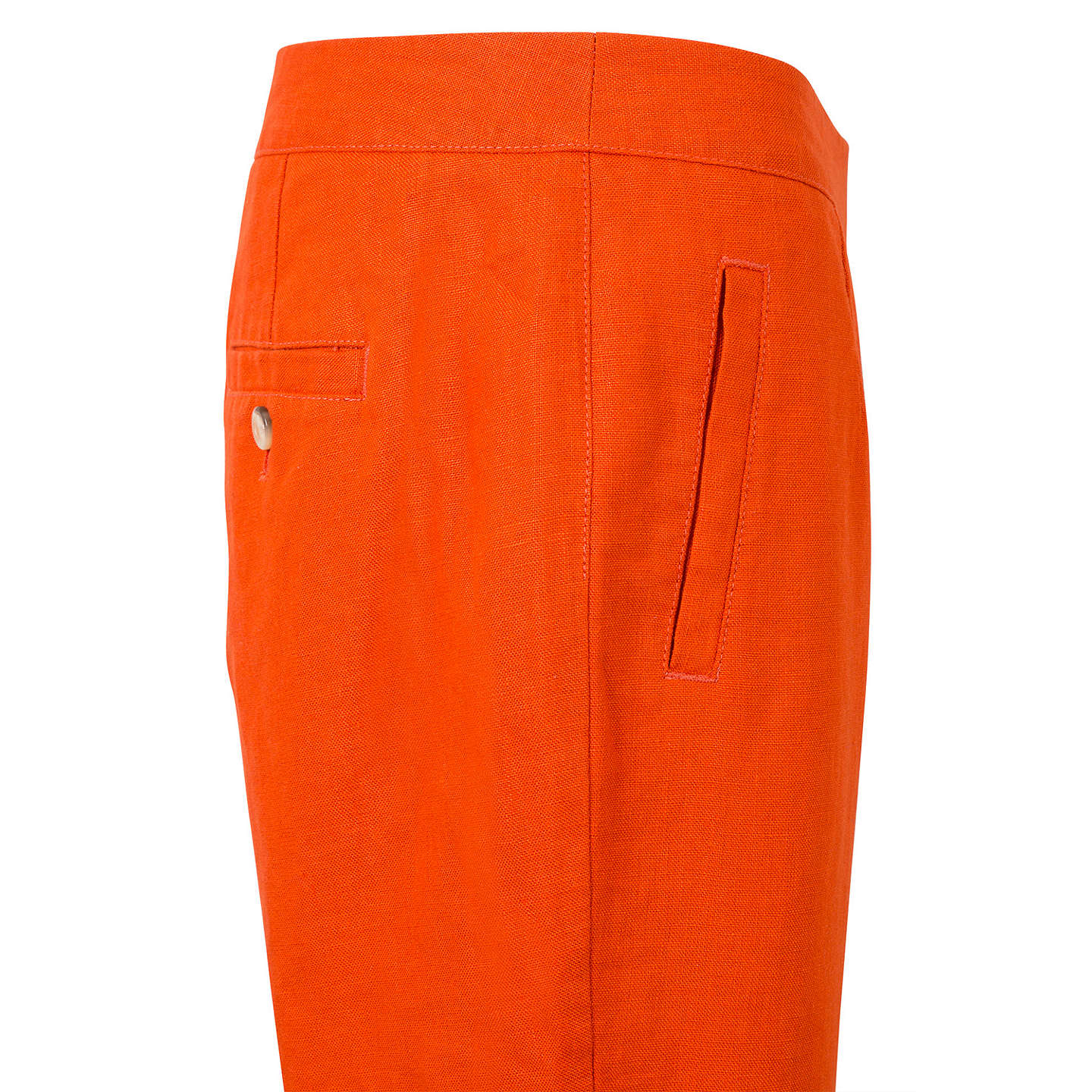 BuyEast Linen Victoire Capri Trousers, Ginger, 10 Online at johnlewis.com
