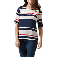 Buy Sugarhill Boutique Honour Love Stripe Top, Cream/Navy Online at johnlewis.com