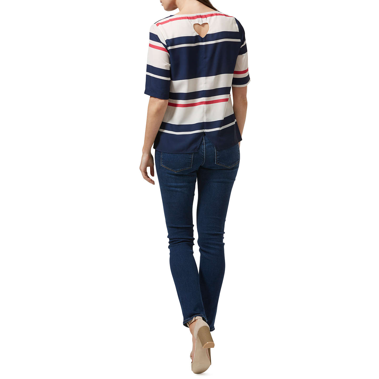 Sugarhill Brighton Honour Love Stripe Top, Cream/Navy