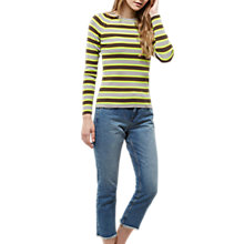 Buy Jaeger Neon Stripe Sweater, Multi Online at johnlewis.com