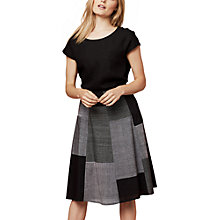 Buy East Mangalagiri Patchwork Skirt, Black Online at johnlewis.com