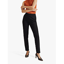 Buy Jigsaw Lux Ponte Tailored Trousers, Black Online at johnlewis.com