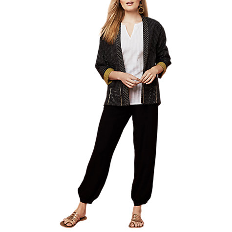 Buy East Distressed Harem Trousers, Black Online at johnlewis.com