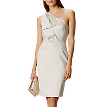 Buy Karen Millen One Shoulder Folded Dress, Pale Grey Online at johnlewis.com