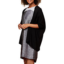 Buy East Drape Edge To Edge Cardigan, Black Online at johnlewis.com