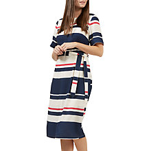 Buy Jolie Moi Heidi Stripe Belted Midi Dress, Cream/Navy/Pink Online at johnlewis.com