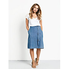 Buy hush Chambray Skirt, Denim Blue Online at johnlewis.com