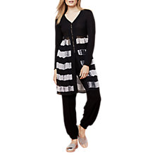 Buy East Printed Combination Cardigan, Black Online at johnlewis.com