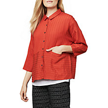 Buy East Pintuck Detail Pocket Shirt, Ginger Online at johnlewis.com
