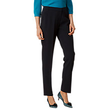 Buy L.K. Bennett Evie Hemmer Trousers, Navy Online at johnlewis.com