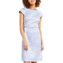 Buy Oasis Jacquard Shift Dress, Blue/Multi Online at johnlewis.com