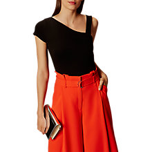 Buy Karen Millen Asymmetric Collection Top, Black Online at johnlewis.com