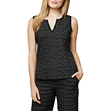Buy East Ikat Vest Top, Black Online at johnlewis.com