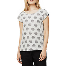 Buy East Linen Organic Spot Shell Top, Stone Online at johnlewis.com