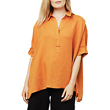 Buy East Linen Handkerchief Hem Top, Ginger Online at johnlewis.com