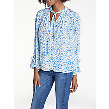 Buy Pyrus Anais Animal Print Blouse, Text Animal Blue Online at johnlewis.com