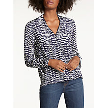 Buy Pyrus Raven Blouse, Aztec Feather Navy Online at johnlewis.com