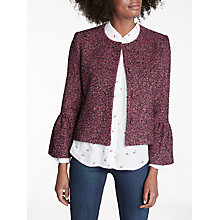 Buy Helene For Denim Wardrobe Zoey Trumpet Sleeve Jacket, Pink Online at johnlewis.com
