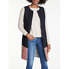 Buy Vilagallo Marcia Embroidered Long Gilet, Jacquard Sena Online at johnlewis.com