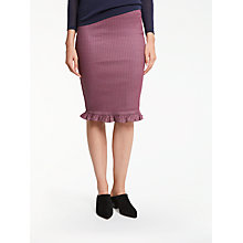 Buy Max Studio Diamond Jacquard Frill Skirt, Claret Online at johnlewis.com