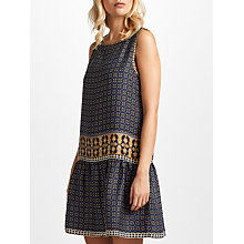 Buy Max Studio Sleeveless Printed Shift Dress, Navy/Camel Online at johnlewis.com