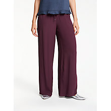 Buy Max Studio Drawstring Wide Leg Trousers, Claret Online at johnlewis.com