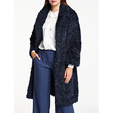 Buy Max Studio Faux Fur Coat, Dark Navy Online at johnlewis.com