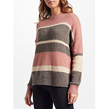 Buy 360 Sweater Abigail Stripe Cashmere Jumper, Sienna Multi Online at johnlewis.com