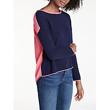 Buy Cocoa Cashmere Colour Block Button Back Cashmere Jumper Online at johnlewis.com