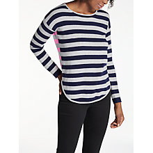 Buy Cocoa Cashmere Striped Curved Hem Jumper, Multi Online at johnlewis.com
