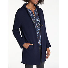 Buy Vilagallo Victoria Long Cardigan Coat, Navy Fiorentina Online at johnlewis.com