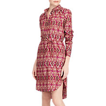 Buy Lauren Ralph Lauren Jenalnio Ikat Crepe de Chine Shirt Dress, Multi Online at johnlewis.com