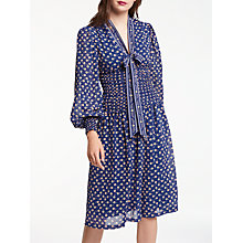 Buy Max Studio Daisy Print Shirring Waist Dress, Multi Online at johnlewis.com
