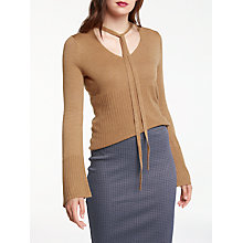 Buy Max Studio Long Sleeve Choker Jumper, Heather Camel Online at johnlewis.com