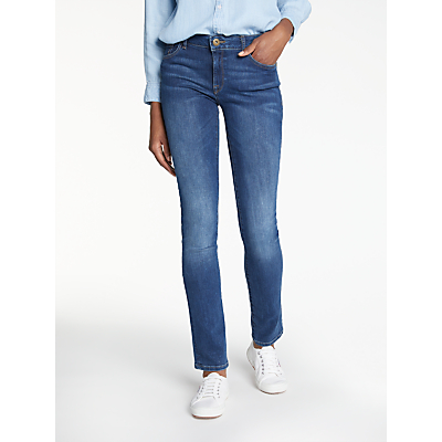 DL1961 Mid Rise Straight Leg Jeans, Titan