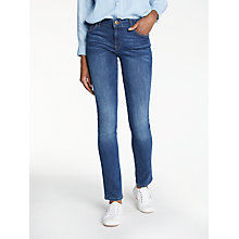 Buy DL1961 Mid Rise Straight Leg Jeans, Titan Online at johnlewis.com