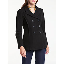 Buy Max Studio Double Breasted Wool Blend Coat, Black Online at johnlewis.com