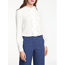 Buy Max Studio Frill Front Shirt, Cream Online at johnlewis.com