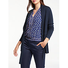 Buy Max Studio Tie Waisted Cardigan, Dark Navy Online at johnlewis.com