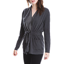 Buy Max Studio Tie Waist Cardigan, Charcoal Online at johnlewis.com